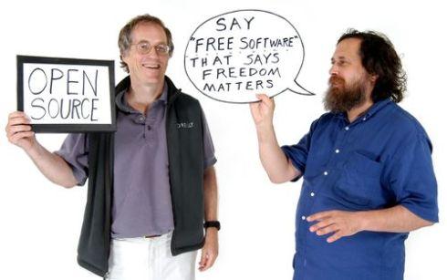 Stallman si oppone all'Open Source, concetto troppo moderato rispetto al software libero (immagine da blog.hfoss.org)